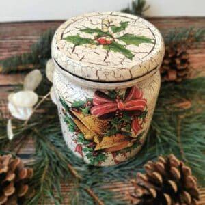 Słoik świąteczny decoupage – dzwonki