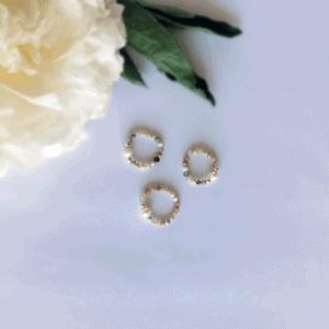 pierścionek - opal z perłą